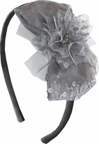 "Isobella & Chloe  ""Madison Ave"" Pewter Sequin headband"