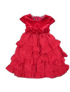 Isobella & Chloe Red Peppermint Lane Tiered Christmas Dress 12m 2t 6 6x