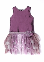 "Isobella & Chloe ""Royal Gem"" Purple Drop-Waist Dress 14"