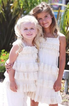 "Isobella & Chloe ""Secret Garden"" Stunning Ivory 2pc Lace Tunic Set 24m"