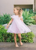 Isobella & Chloe Sprinkling Magic Pink Sequins & Tulle Girls Dress