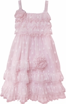 Isobella & Chloe Strawberry Shortcake Pink Polka Dot Ruffles Dress  SZ 4 LAST 1