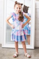 Isobella & Chloe Sunny Smile Ruffle Sleeves Girls Dress 4t 4