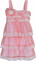 Isobella & Chloe Coral & Ivory Toddler Girls Easter Dress 3t