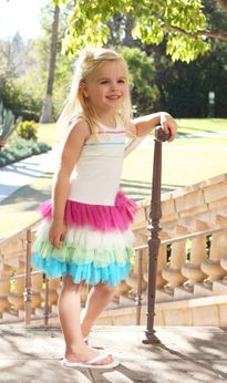 Isobella & Chloe 2pc Drop Waist Summer Dress & Headba 2T