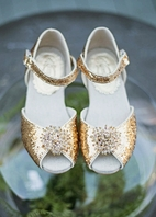 Joyfolie Opulent Sparkly Gold Glitter Rayme Girls Shoes  5 Yth Last 1