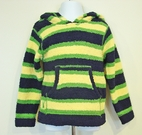 Julep Lounge Cozy Striped Navy, Yellow & Green Boy's/Girls Pullover Hoodie