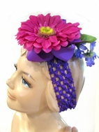 Kashka by KidCuteTure Purple & Fuschia Girls Flower Headband
