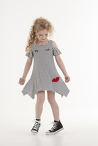 Kate Mack Oodles of Doodles Cold Shoulder Hi Lo tween Dress 12