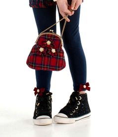 "Kate Mack 'Plaid Princess"" Red & Navy Darling Purse"