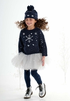 "Kate Mack ""Style Prodigy"" Navy Snow Flake Tween Sweater 8 Last 1"