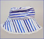 Kate Mack Very Special Striped 3pc Skirted Bikini & Hat Set 2T