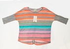 Kiddo by Katie Tween Fun Stripes Button back Top 12  Last 1