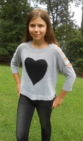 Kiddo by Katie Shoulder Cut-Out Knit Sweater w/Heart 7 Last 1