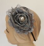 KIDS KAPERS Beautiful Pewter Headband w/Pearl Center