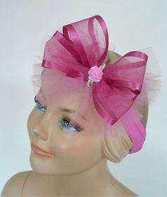 KIDS KAPERS Colonial Rose Pink Tulle Sequined Flower Headband