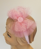 KIDS KAPERS Pink Glitter Sparkly Girls Headband w/Bow