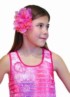 KIDS KAPERS  Blossoms Magenta Multi Color Peony Headband