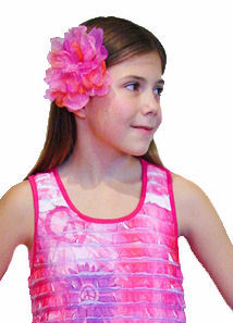 KIDS KAPERS  Blossoms Magenta Multi Color Peony Hair Flower or Headband
