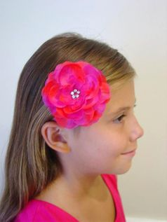 KIDS KAPERS Sweet Magent Hair Flower on Headband
