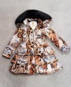 Le Chic Chained Cheetah Ruffle Girls Winter Coat Pre-Order