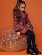 Le Chic Cinnamon Stunning Studded Girls Winter Coat