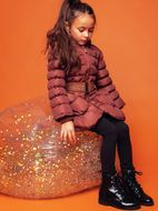 Le Chic Cinnamon Stunning Studded Girls Winter Coat 5/6 10/12