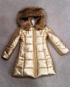 Le Chic Hooded Girls Long Gold Winter Coat Pre-Order