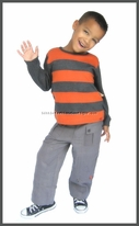 Le Fromage et L'Orange Awesome Striped Boy's Tee 2T