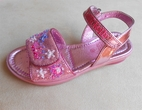 Lelli Kelly Pink Glitter Tiara Girls Sandals 6.5 Tdlr  4Yth