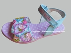 "Lelli Kelly Sky Blue ""Tallula"" Shopper Girl Beaded Girls Sandals 6tdlr 9"
