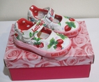 Lelli Kelly Super Fun Whie & Red Strawberry Baby Girls Mary Janes 19/3US