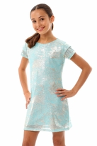 Les Tout Petits Aquamarine & Silver Tween Dress *Top Seller*