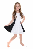 Les Tout petits Black & White Fit & Flare Tween Dress 10
