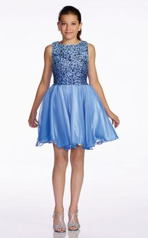 Lexie by Mon Cheri Exquisite Periwinkle Beaded Prom Pageant Dress  16