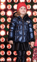 Like Flo Reversible Navy Faux Fur Girls Jacket