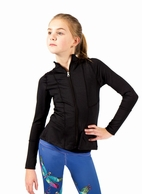 Limeapple Black Zipper Girls Athletic Jacket 10/12