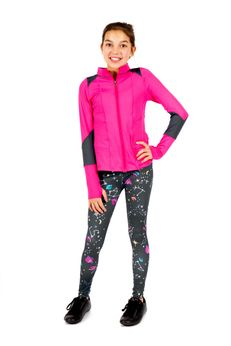 Limeapple Galaxy Love in Color Charcoal Girls Leggings
