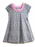 Lipstik Girls A-line Sparkle Hearts Girls Dress w/Sequin Trim 4 7