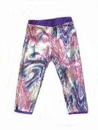 Lipstik Girls Awesome Sparkly Sequined Purple Swirls Leggings 2T