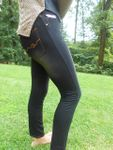 Lipstik Girls Black Knit Denim Slightly Distressed Leggings Comfy 4 5 10