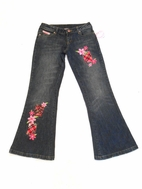 Lipstik Girls Very Cute Flower Patch Jeans sz 8