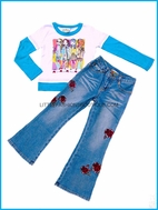 Lipstik  Water Girl Tee & Jeans Set sz 4
