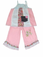 Little Mass 2pc Darling Tunic & Capris Set Toddler girl  sz 4T
