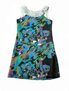 Little Mass Beautiful Jewelled Lilo Silk Tween Dress 7 8
