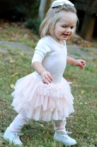 Little Mass Mini 2pc Pink & Ivory Rose Tutu Dress w/Leggings 18m 24M 3T 4T