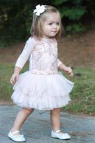 Little Mass Mini Pink & Gold Embr. Baby Girl Tutu Dress 3m 6m Last 2