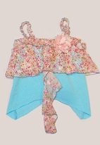 "Little Mass ""Secret garden"" Gorgeous Top w/Chiffon Ruffles  4t 4"