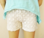 "Little Mass ""Summer Vine""  Beautiful Ivory lace Girls Shorts 2T"