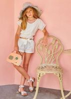 Little Pexoto 2pc Super Cute White Shorts Outfit